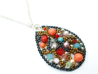 Free Style Bead and Wire Pendant Class Saturday 22nd Sept 10.30am to 12.30pm